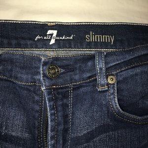 7FAM Slimmy Jeans, Girls size  14, Womens 23 waist